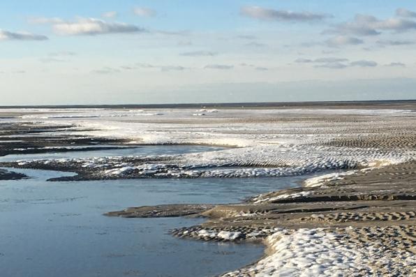 Wattenmeer im Winter